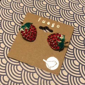 Jewelry - Strawberries anyone? Fuego Sparkling Earrings